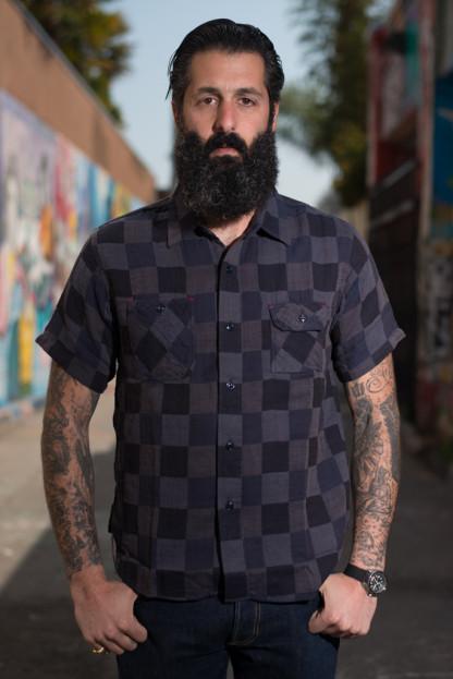 Sugar Cane Prizm Fear Dice-Weave Short Sleeve Shirt