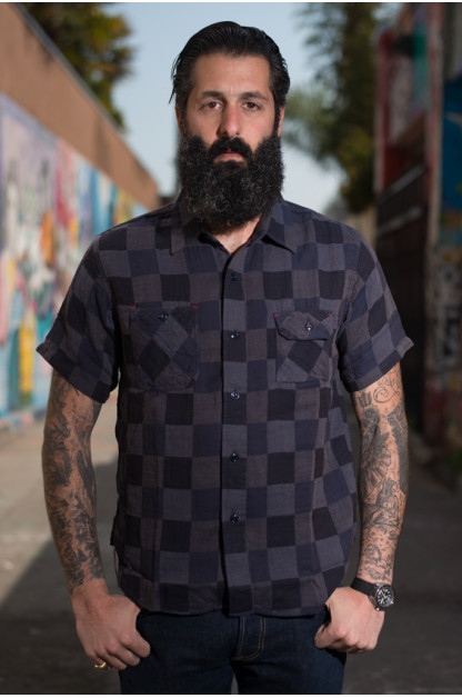 Sugar Cane Prizm Fear Dice-Weave Short Sleeve Shirt