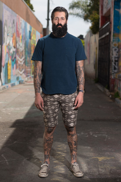 3sixteen for SEMX Drawstring Chill-Out Shorts - Olive