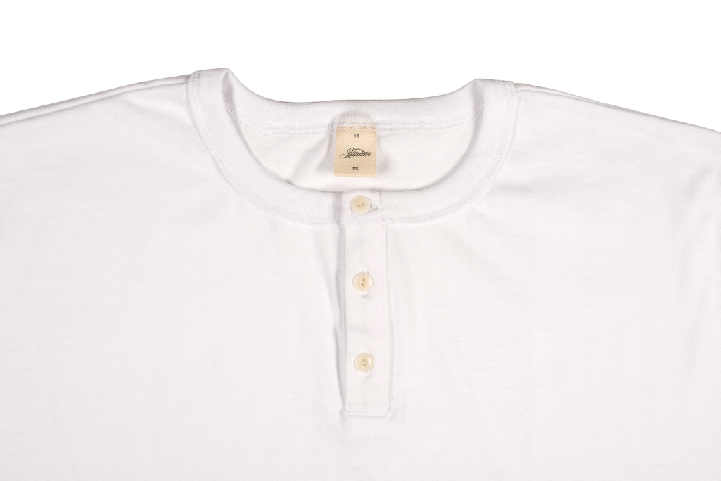 3sixteen Heavyweight Henley T-Shirt - White - Image 1
