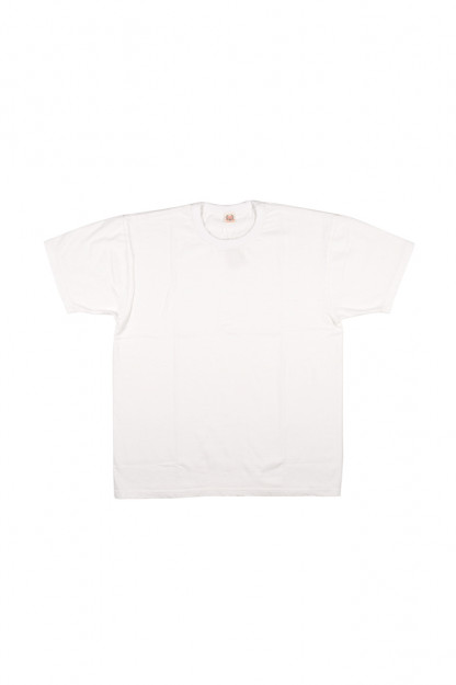 "Flat Head ""Glory Park"" Loopwheeled Blank T-Shirt - White"