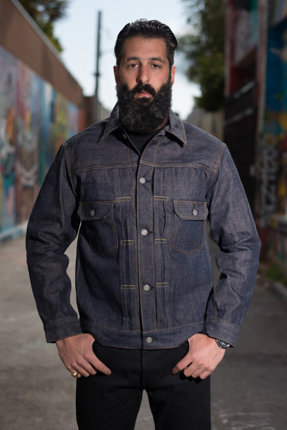 Sugar Cane 1953 Type II Unsanforized Denim Jacket - Okinawa Denim