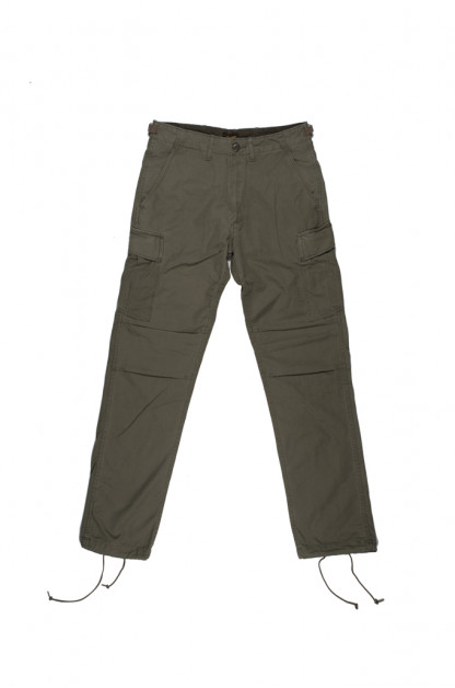 "Stevenson ""Recon"" Fatigue Trousers - Olive Ripstop Poplin"