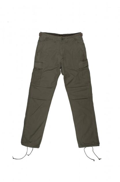 Stevenson Recon Fatigue Trousers - Olive Ripstop Poplin