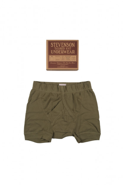 Stevenson Tanguis Cotton Athletic Boxer Briefs - Olive