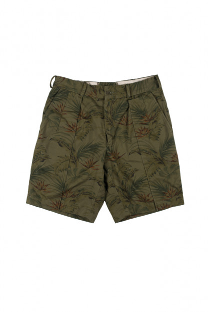 "Stevenson ""Weekend Warrior"" Shorts - Olive Flower Party"