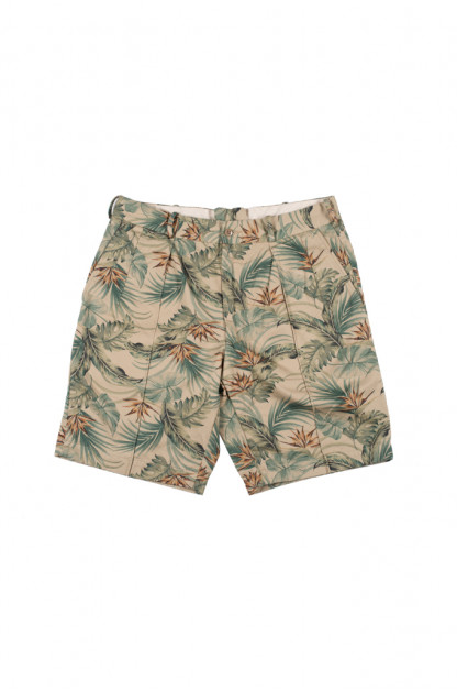 "Stevenson ""Weekend Warrior"" Shorts - Beige Flower Party"