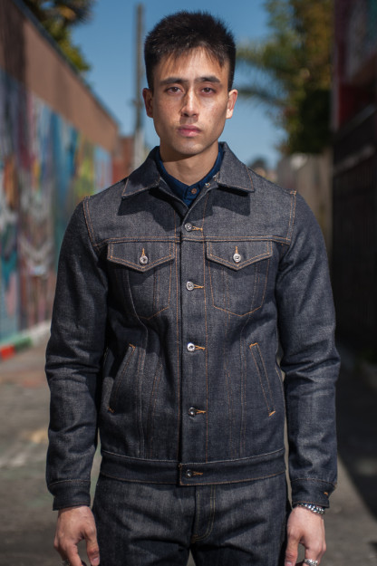 "3sixteen+ 16.5oz ""Caustic Wave"" Denim - Type III Modified Jacket"