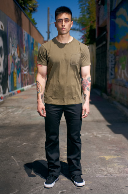 Iron Heart Selvedge Cotton Chinos - Black