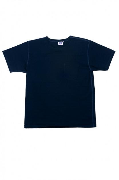 Studio D'Artisan Loopwheeled T-Shirt - Pure-Indigo Dyed