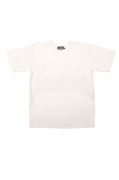 Studio D'Artisan Suvin Gold Loopwheeled T-Shirt - White