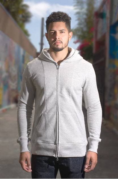 Nine Lives Tsuriurake Double-Zip Hoodie - Gray