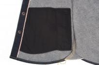 Iron Heart 18oz Denim CPO Shirt w/ Hand Pockets - Indigo - Image 9