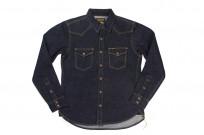 Iron Heart 18oz Denim CPO Shirt w/ Hand Pockets - Indigo - Image 2
