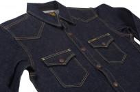 Iron Heart 18oz Denim CPO Shirt w/ Hand Pockets - Indigo - Image 4