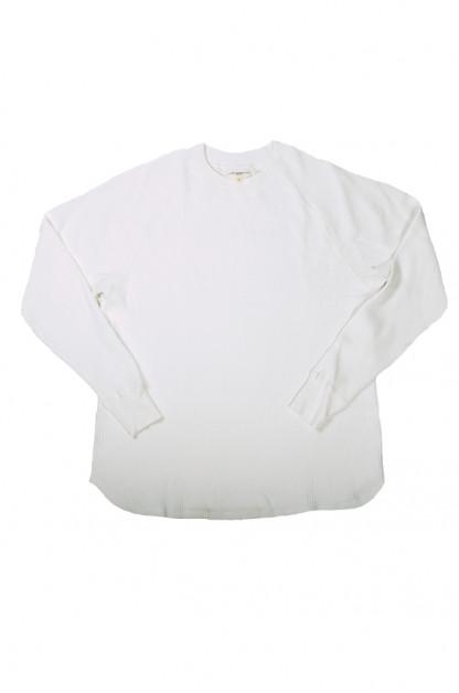 Lady White Raglan Thermal Shirt - White
