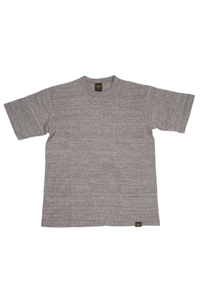 Iron Heart 6.5oz Heavy Loopwheeled T-Shirt - Light Gray - Image 0