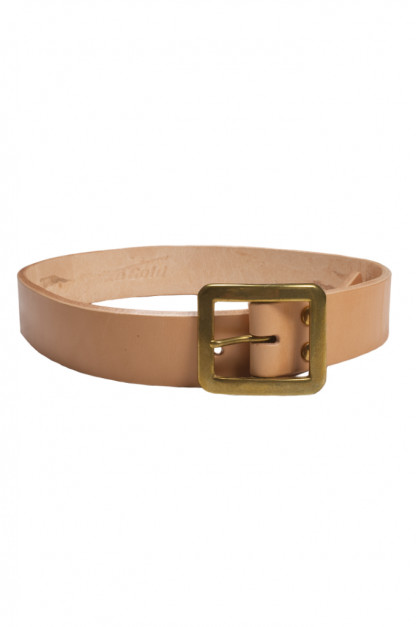 Strike Gold Leather Belt - Tan