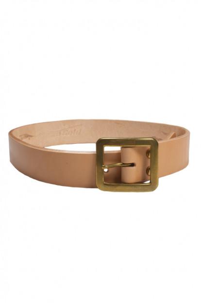 Strike Gold Leather Belt - Tan