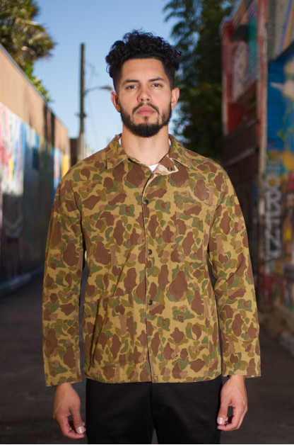 Buzz Rickson Herringbone Camo Reversible Jacket