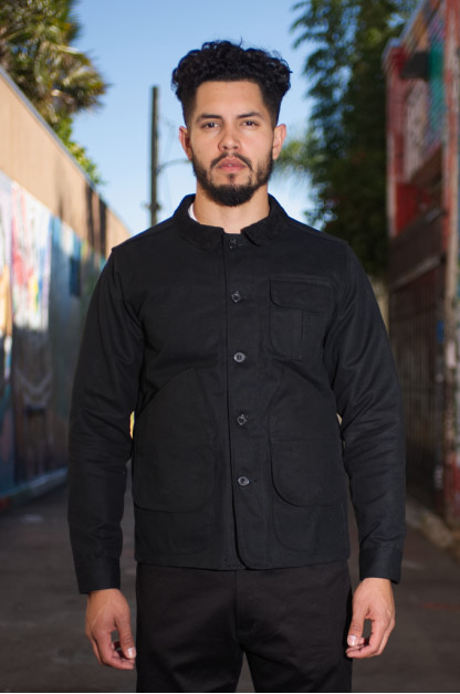 3sixteen Hunting Jacket - Black Cotton Duck
