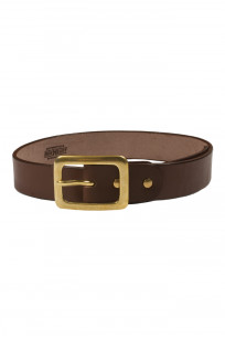 Iron Heart Heavy Duty Cowhide Belt - Brass/Brown - Image 0