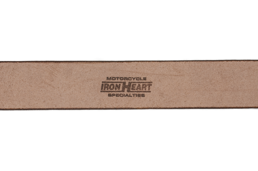 Iron Heart Heavy Duty Cowhide Belt - Brass/Brown - Image 3