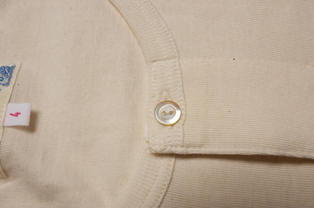 Merz b. Schwanen 2-Thread Heavy Weight T-Shirt - Henley Natural - Image 5