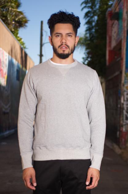 Merz b. Schwanen Heavy Weight Crewneck Sweater - Gray