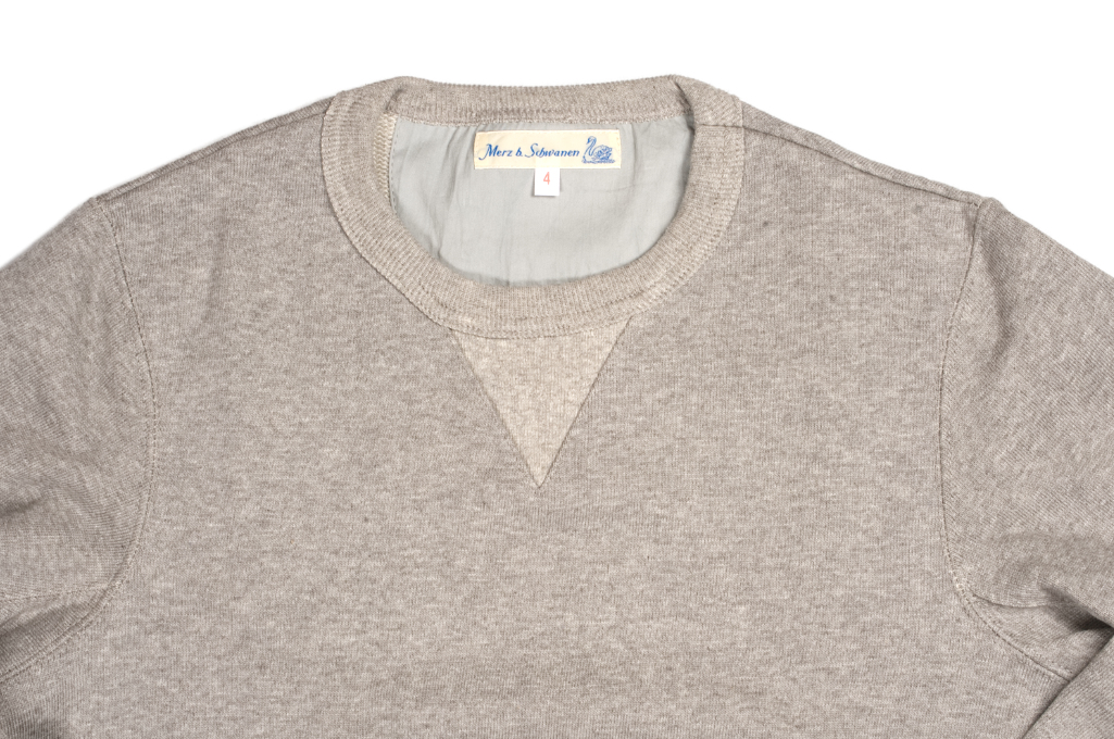 Merz b. Schwanen Heavy Weight Crewneck Sweater - Gray - Image 3