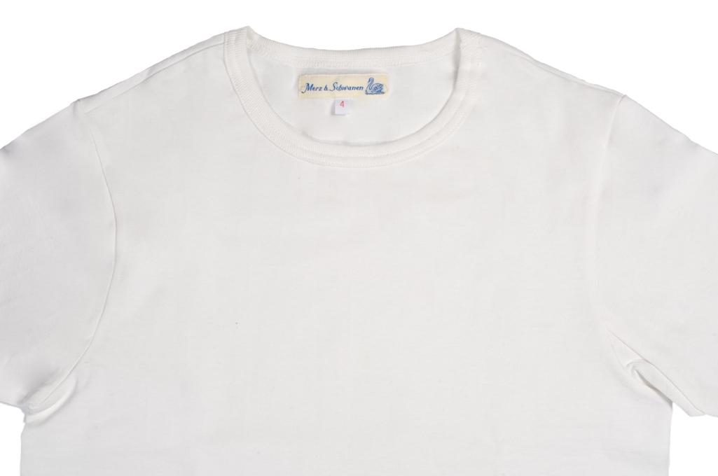 Merz b. Schwanen 2-Thread Heavy Weight T-Shirt - White - Image 1