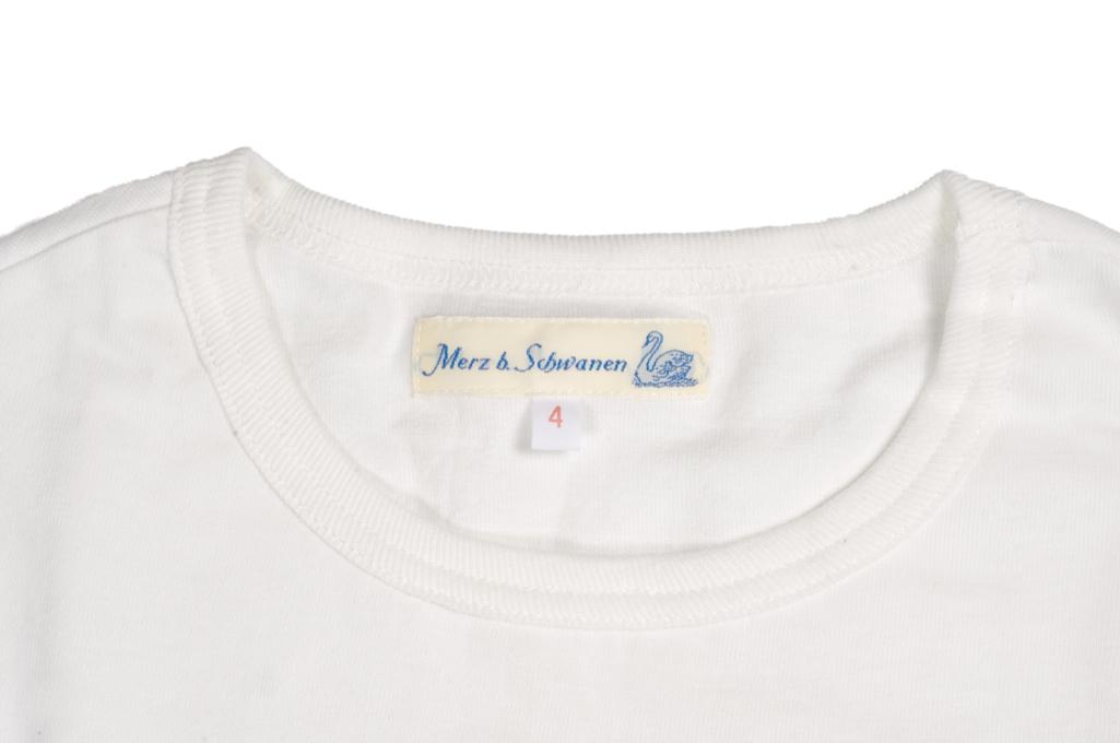 Merz b. Schwanen 2-Thread Heavy Weight T-Shirt - White - Image 2