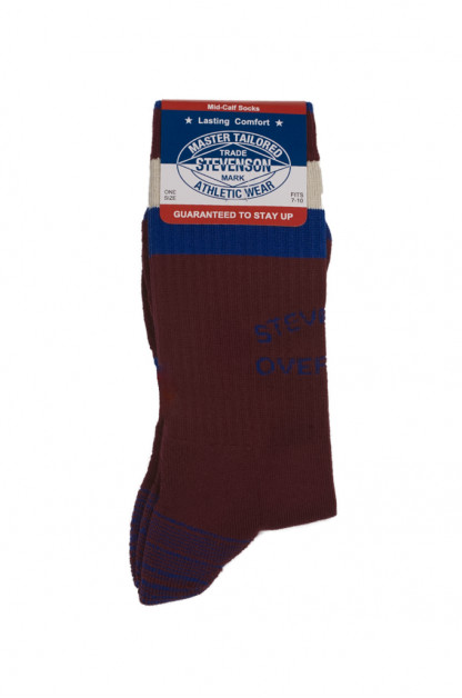 Stevenson Branded Solid Socks - Burgundy