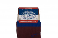 Stevenson Branded Solid Socks - Burgundy - Image 1