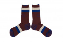 Stevenson Branded Solid Socks - Burgundy - Image 2