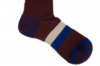 Stevenson Branded Solid Socks - Burgundy - Image 3