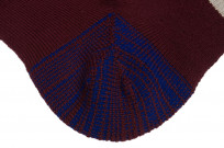 Stevenson Branded Solid Socks - Burgundy - Image 5