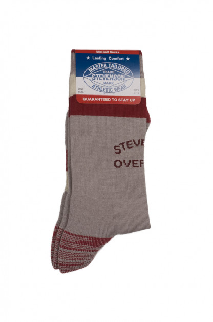 Stevenson Branded Solid Socks - Gray