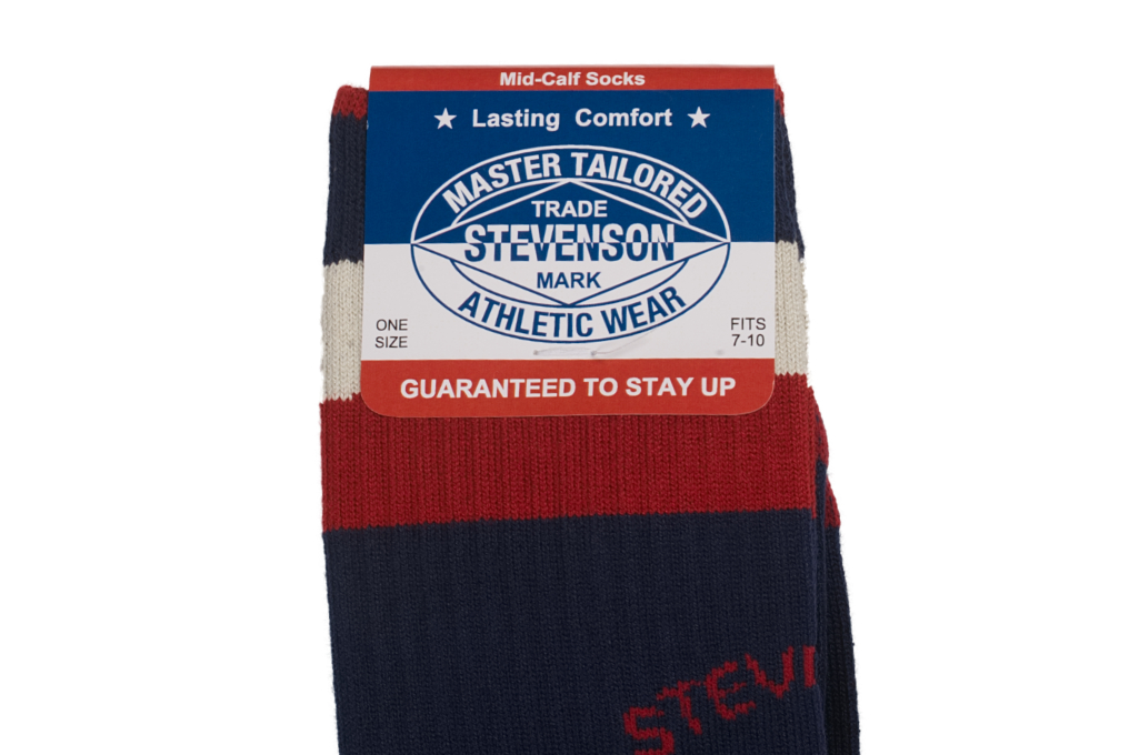 Stevenson Branded Solid Socks - Navy - Image 1