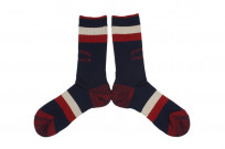 Stevenson Branded Solid Socks - Navy - Image 2