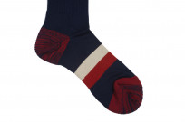 Stevenson Branded Solid Socks - Navy - Image 3