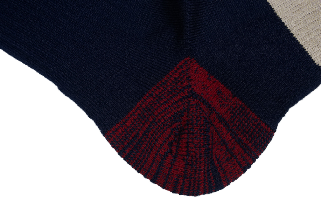 Stevenson Branded Solid Socks - Navy - Image 5