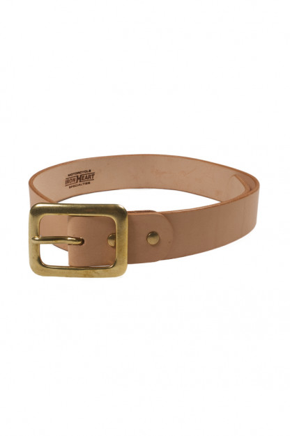 Iron Heart Heavy Duty Cowhide Belt - Brass/Tan