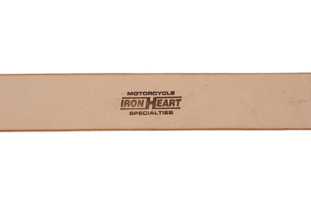 Iron Heart Heavy Duty Cowhide Belt - Brass/Tan - Image 3
