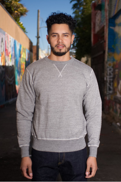 Buzz Rickson Flatlock Seam Crewneck Sweater - Gray