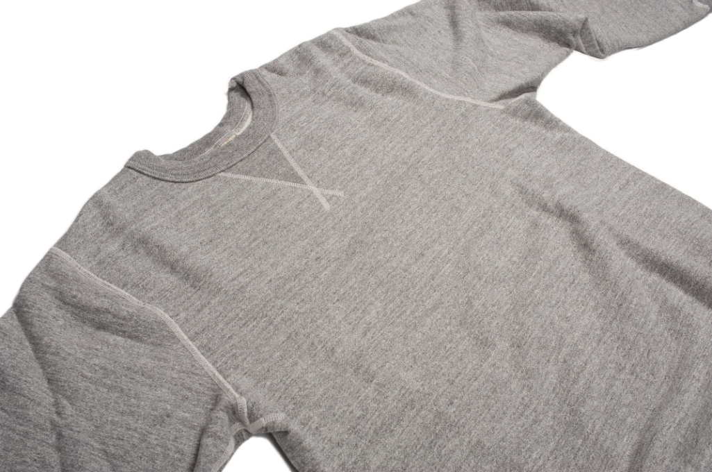 Buzz Rickson Flatlock Seam Crewneck Sweater - Gray - Image 9