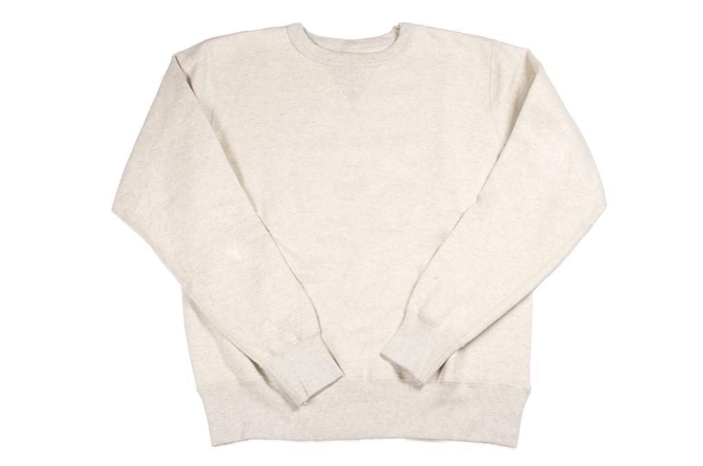Buzz Rickson Flatlock Seam Crewneck Sweater - Oatmeal - Image 3