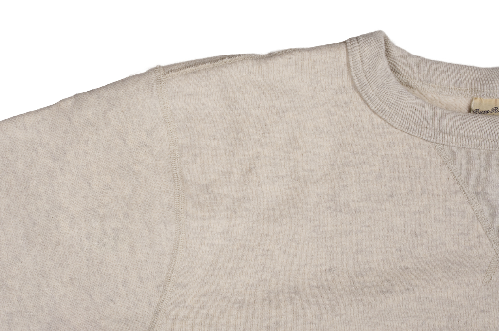 Buzz Rickson Flatlock Seam Crewneck Sweater - Oatmeal - Image 6
