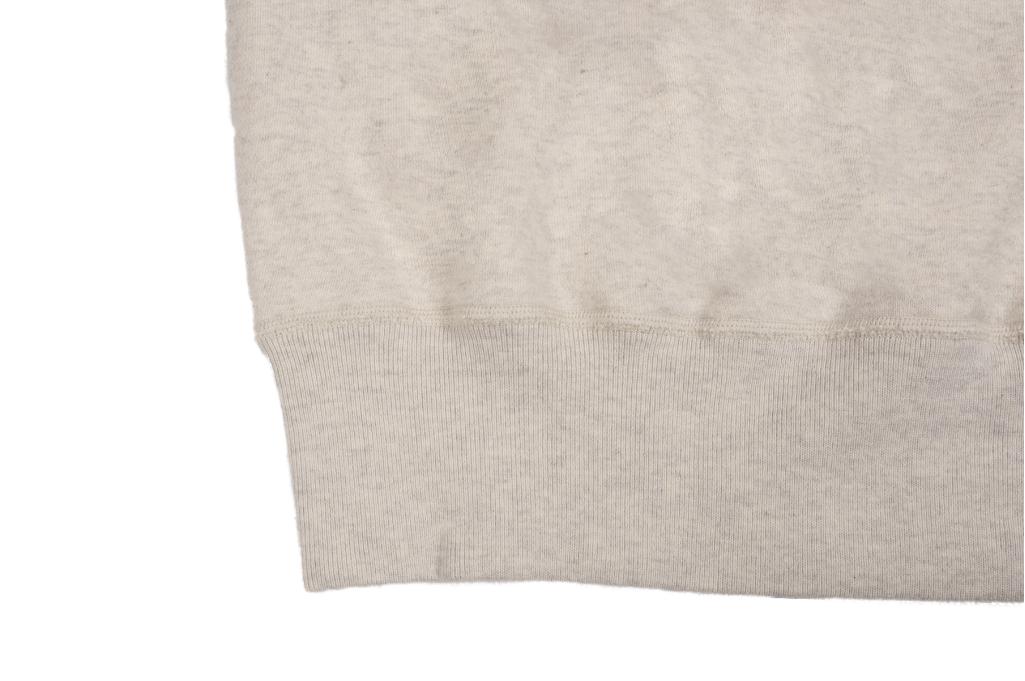 Buzz Rickson Flatlock Seam Crewneck Sweater - Oatmeal - Image 8