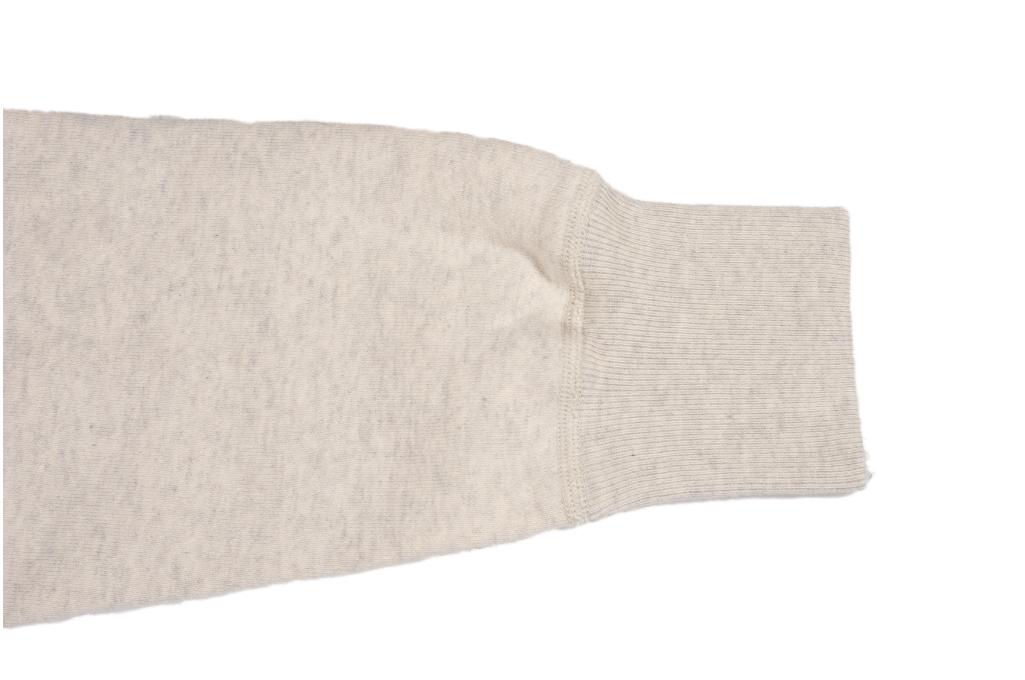 Buzz Rickson Flatlock Seam Crewneck Sweater - Oatmeal - Image 9